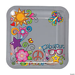 Glitzy Chicks™ Square Dinner Plates