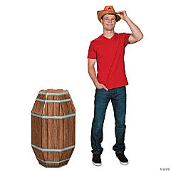 3D Wooden Barrel Stand-Up