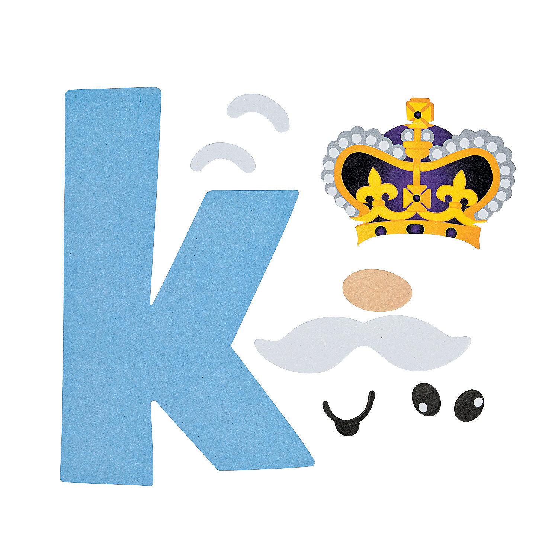 k is for king lowercase letter k craft kit oriental. Black Bedroom Furniture Sets. Home Design Ideas