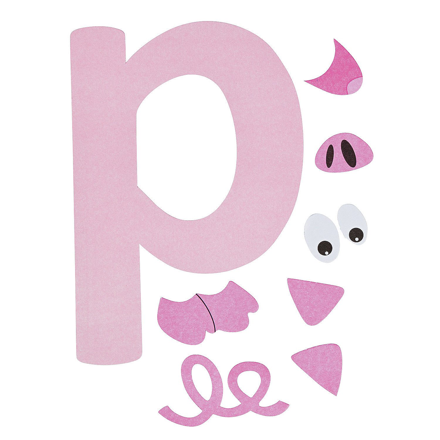 """""""P Is For Pig"""" Lowercase Letter P Craft Kit"""