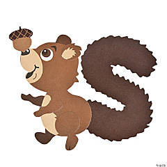 """S Is For Squirrel"" Lowercase Letter S Craft Kit"