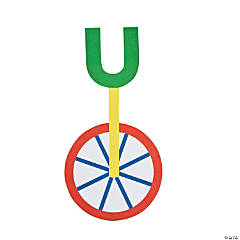 """U Is For Unicycle"" Letter U Craft Kit"