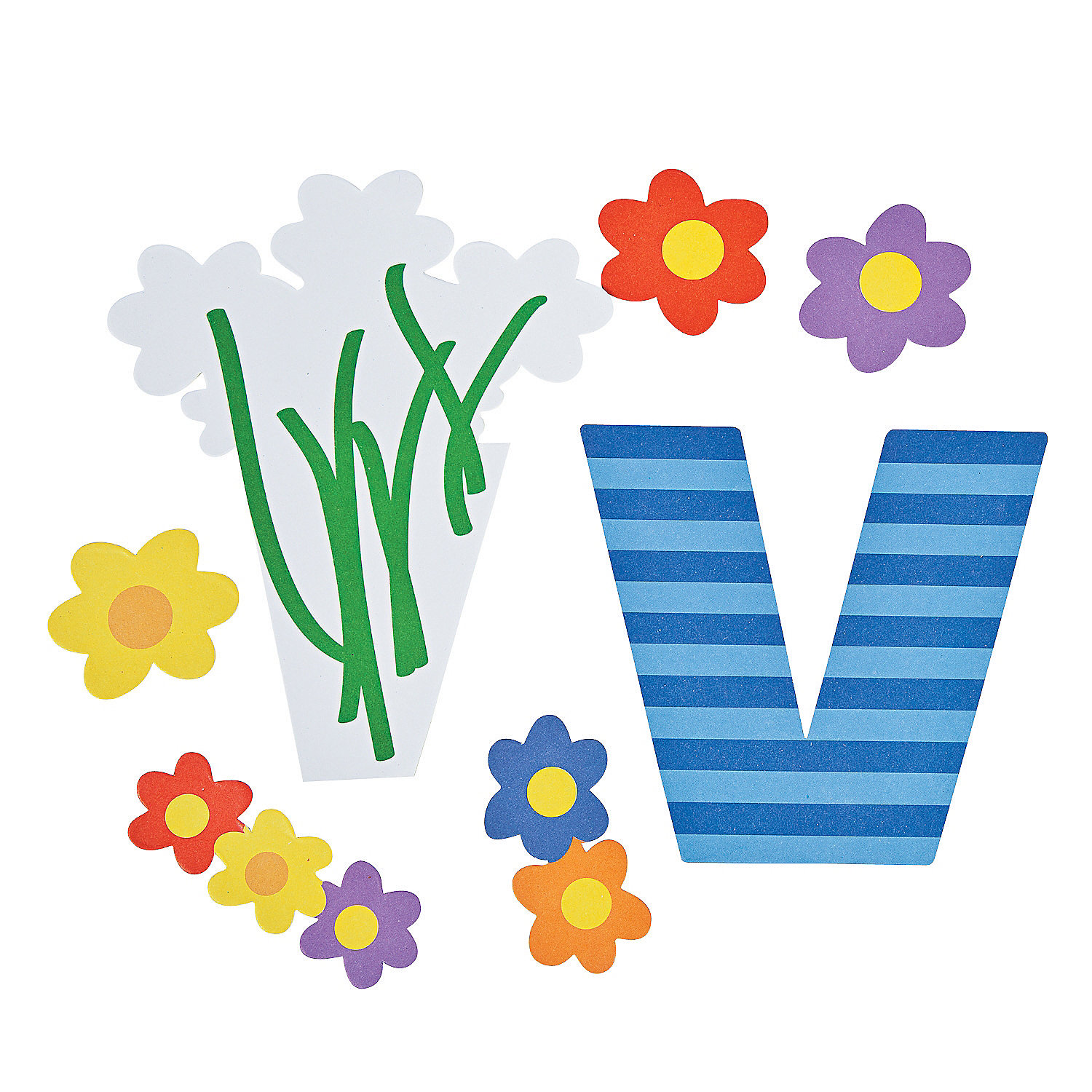 """V Is For Vase"" Lowercase Letter V Craft Kit - Oriental ..."