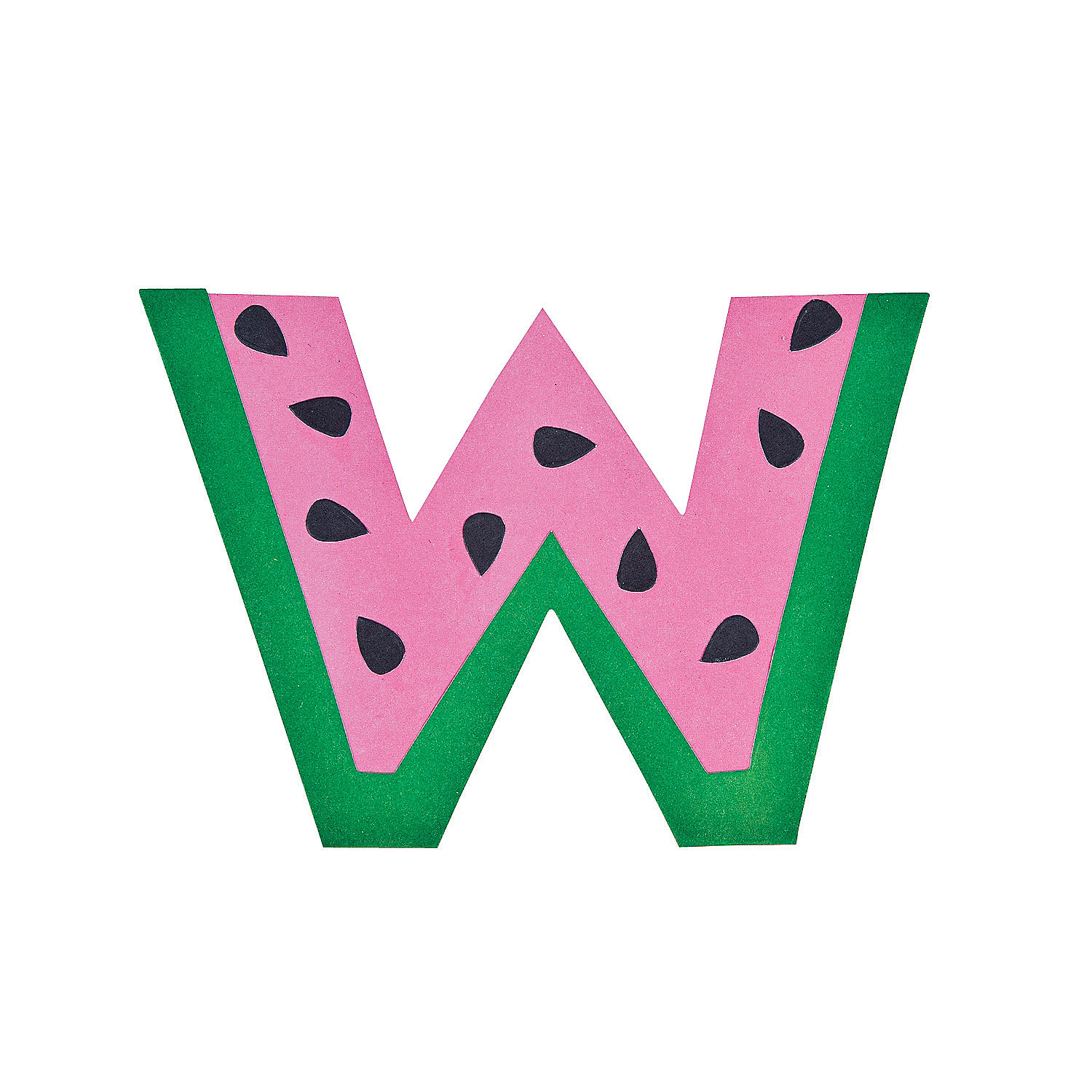 ... letter w craft kit in 13603468 w is for watermelon lowercase letter w