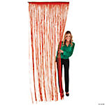 Red Fringe Door Curtain