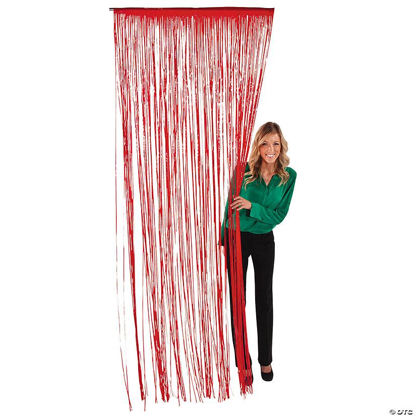 Plastic Red Fringe Door Curtain