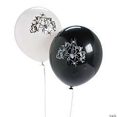 Eerie Black Latex Halloween Balloons