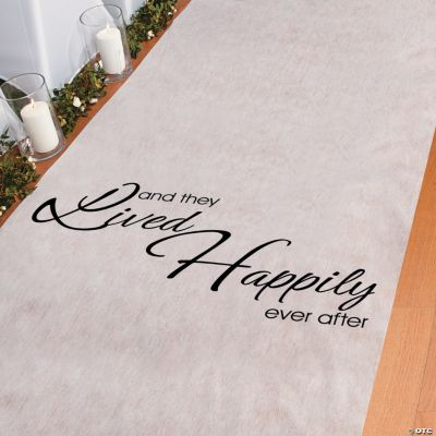 """""""And They Lived Happily Ever After"""" Aisle Runner"""