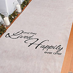 """And They Lived Happily Ever After"" Aisle Runner"