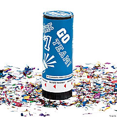 Blue School Spirit Party Poppers