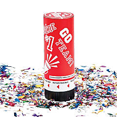 Cardboard Red School Spirit Party Poppers.