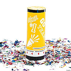 Yellow School Spirit Party Poppers