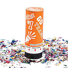 Orange School Spirit Party Poppers