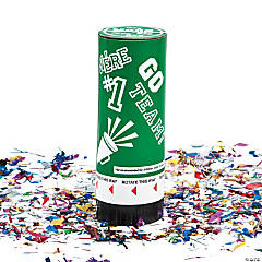 Green School Spirit Party Poppers