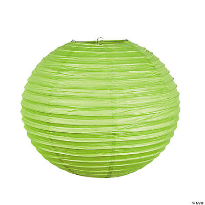 "18"" Lime Green Paper Lanterns"