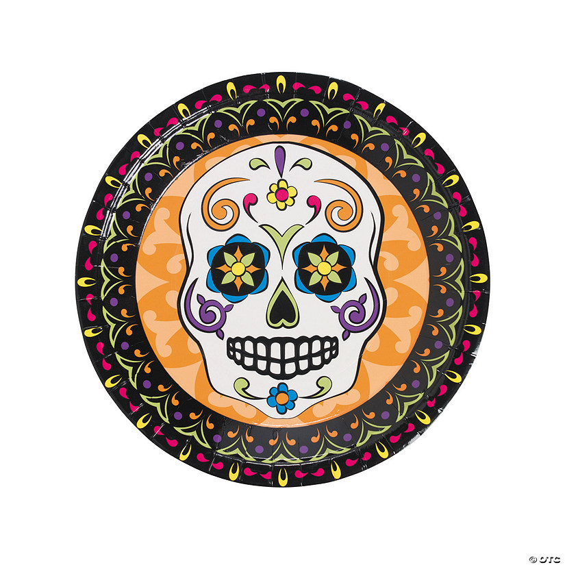 sc 1 st  Oriental Trading & Day of the Dead Paper Dinner Plates