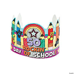 Color Your Own 50 Days of School Crowns