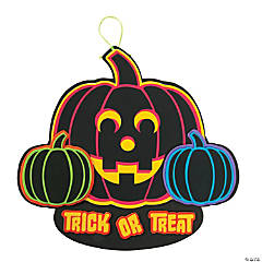Neon Pumpkin Sign Craft Kit