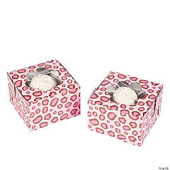 1st Birthday Cheetah Cupcake Boxes