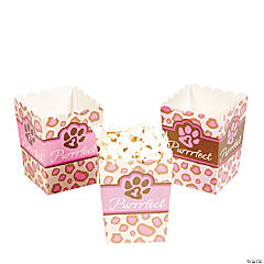 1st Birthday Cheetah Popcorn Boxes