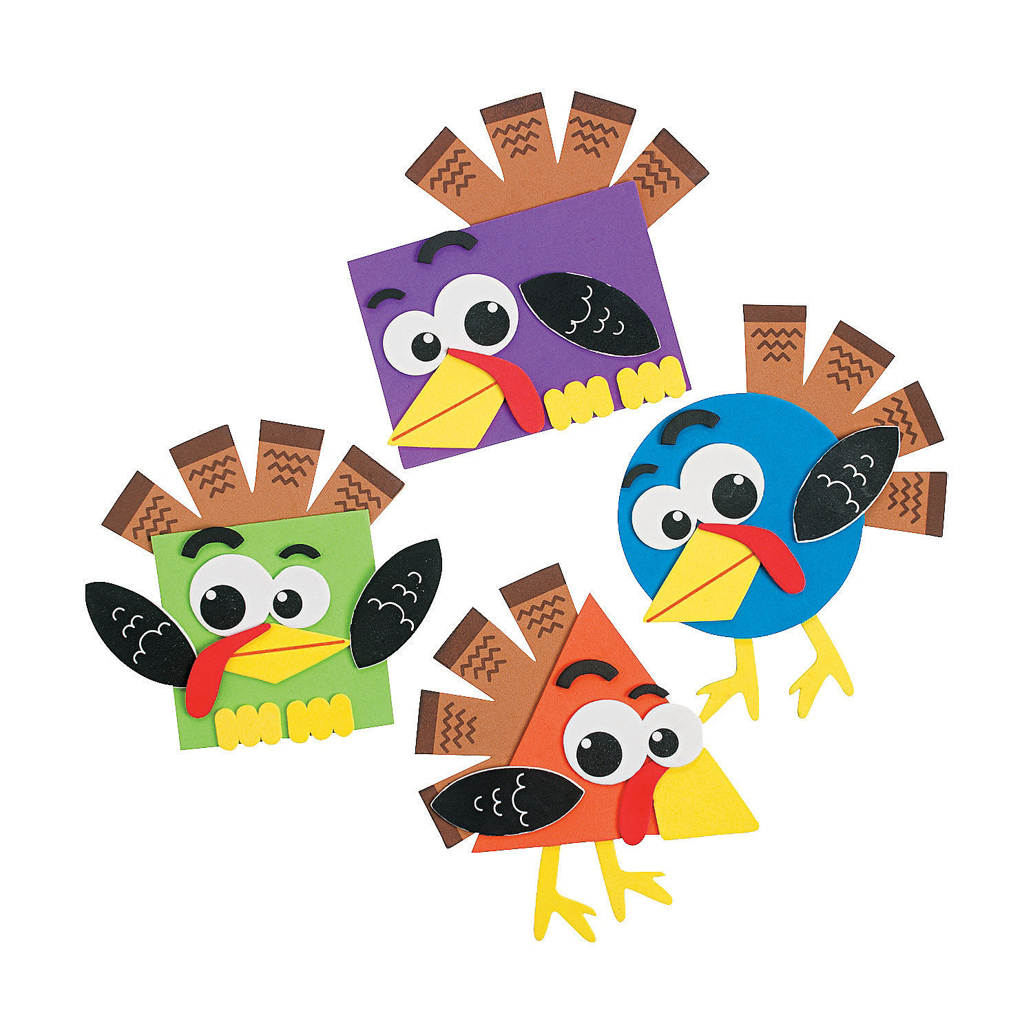 Shape turkey craft kit coloring crafts crafts for kids for Turkey country arts and crafts
