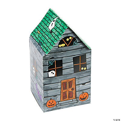 Diy 3 D Haunted House Coloring Crafts Crafts For Kids
