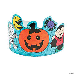 Color Your Own Halloween Crowns