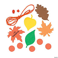 """I'm Thankful"" Leaf Necklace Craft Kit"