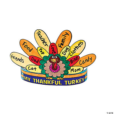 "Color Your Own ""What I'm Thankful For"" Crowns"