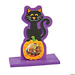 Cat on Pumpkin Stand Up Picture Frame Craft Kit