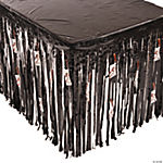 Table Skirt with Butcher Knife Cutouts