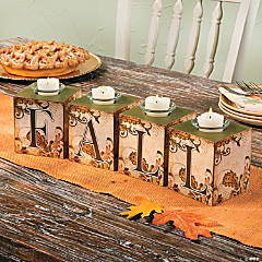 """Fall"" Block Votive Holders"