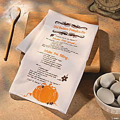 Pumpkin Pie Recipe Fall Towel