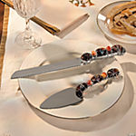 Beaded Cake Server & Knife Set