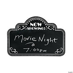 Wooden Movie Night Chalkboard