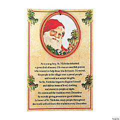 Legend of St. Nicholas Christmas Ornament