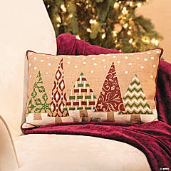 Plush Holiday Christmas Tree Pillow