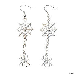 Silver Spider & Spiderweb Earring Kit