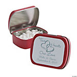 Personalized Two Hearts Red Mint Tins