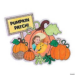 "Color Your Own ""Pumpkin Patch!"" Picture Frame Magnets"