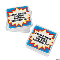 Personalized Superhero Square Favor Containers