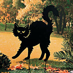 Black Cat Silhouette Yard Stake