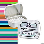"Personalized ""Mint To Be"" Wedding Mint Tins"