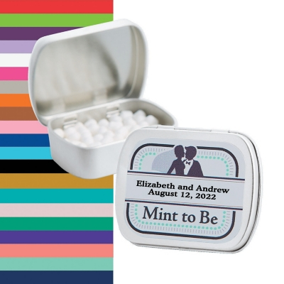 Personalized ?Mint To Be? Wedding Mint Tins