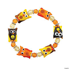 Fall Owl Lampwork Bracelet Kit