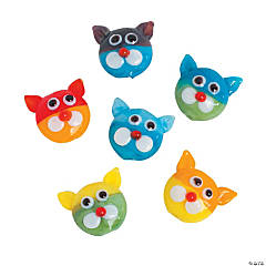 Colored Cat Lampwork Beads