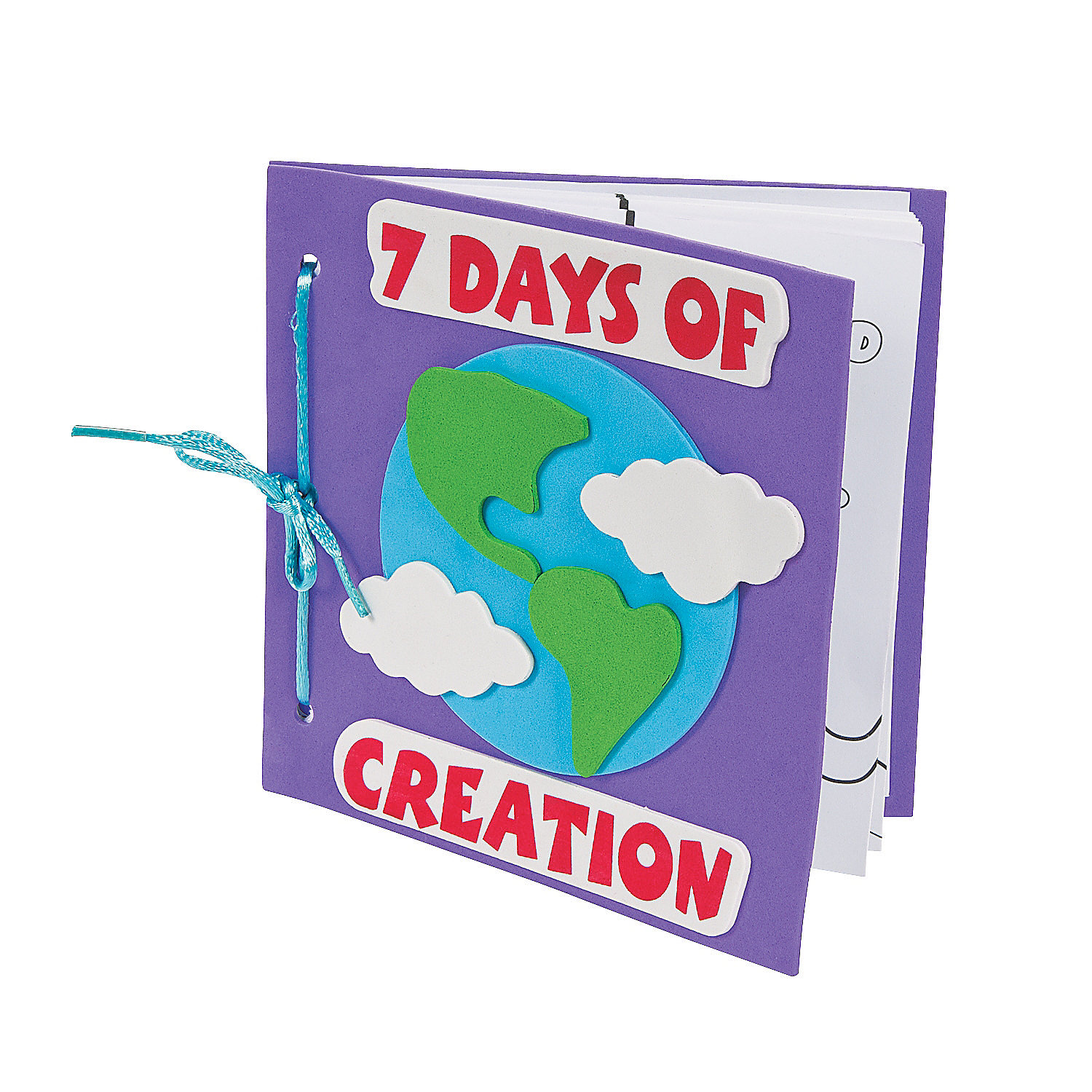 Color your own book about the 7 days of creation craft kit for Creation crafts for sunday school