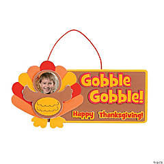 """Gobble Gobble!"" Turkey Picture Frame Craft Kit"