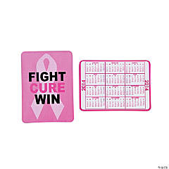 2014 Pink Ribbon Wallet Card Calendars