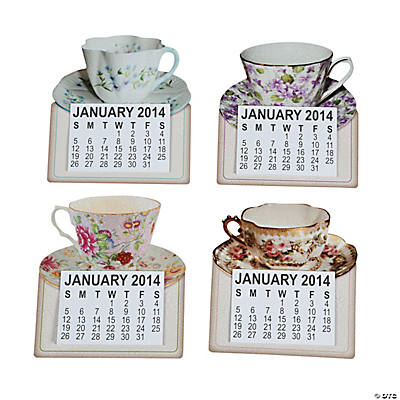 2014 Tea Cup Magnetic Calendars